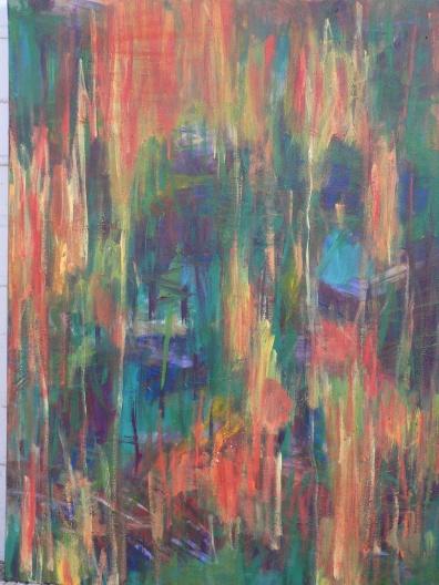Sicht 2 60 x 80 cm Acryl auf Leinwand